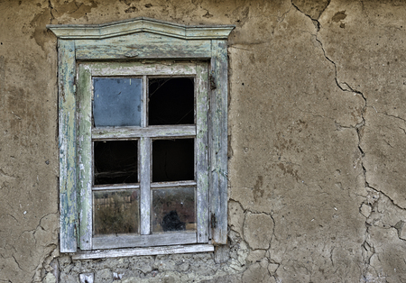 ruinous: Window in an old ruinous house