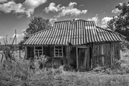 tragedies: Abandoned house in central Ukraine