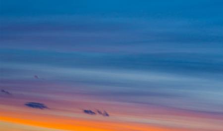 color spectrum: Color spectrum of sunset sky