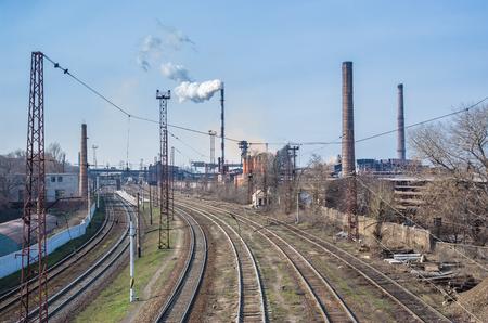 paesaggio industriale: Paesaggio industriale nel centro di Ucraina. Archivio Fotografico