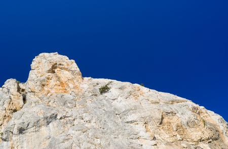 Sheer cliff on a Cat Mountain (composite monument of nature near Simeaz, Crimea, Ukraine)