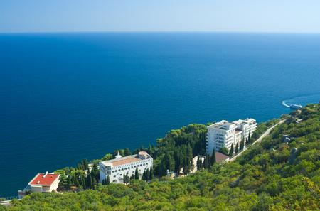 Beautiful Black Sea resort coast in Crimea, Ukraine.