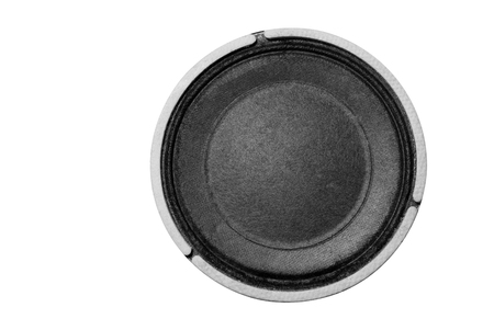 Small loudspeaker on a white background.