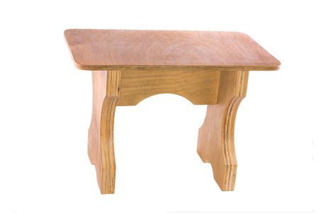 Small stool made from plywood. Stock Photo