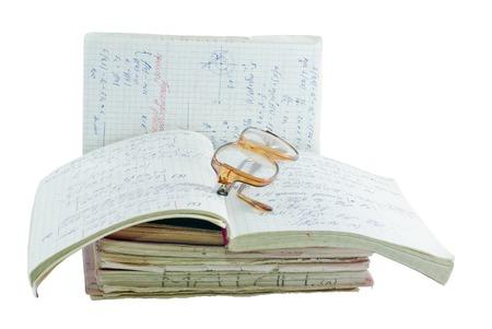 mathematician: Notebooks of mathematician. Stock Photo