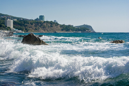 Black Sea landscape in Crimea, Ukraine.