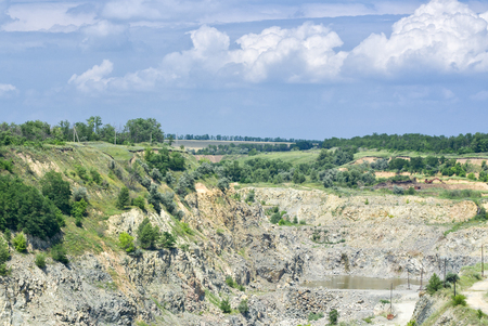 A quarry at summer day. Stock Photo