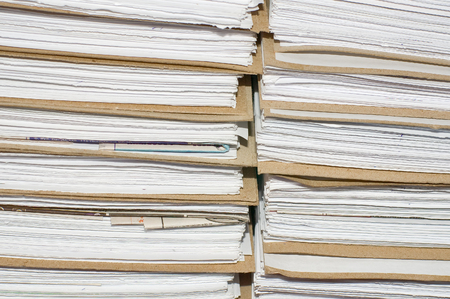 Archival background - a pile of documents in an archive