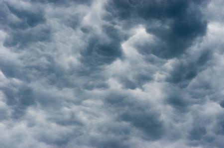 Dark prestorm clouds in summer sky