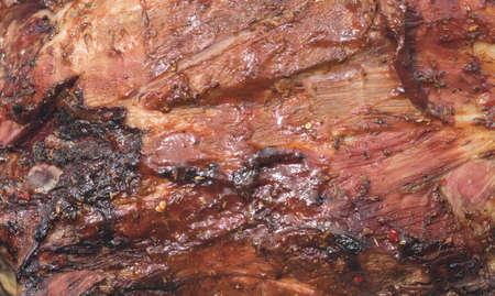 Street food in Ukraine - marinaded bull calf meat
