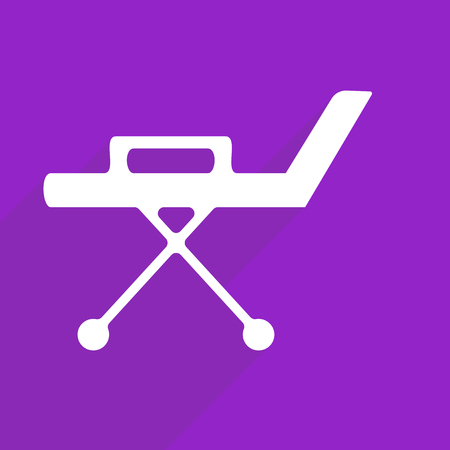 stretcher: Flat vector icon with shadow and modern design Stretcher