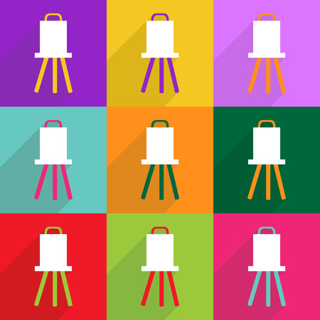 usability: Flat vector icon with shadow and modern design easel