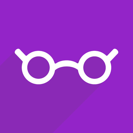 reading app: Flat vector icon with shadow and modern design glasses Illustration