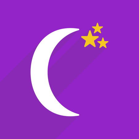 in midnight: Flat vector icon with shadow and modern design midnight Illustration