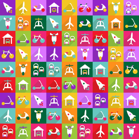 social movement: Flat vector icon with shadow and modern design icon set transport Illustration