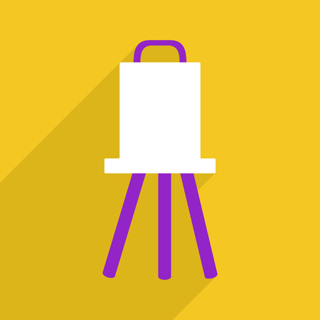 easel: Flat vector icon with shadow and modern design easel