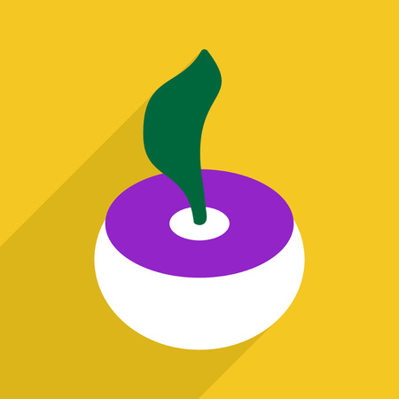 dangerous work: Flat vector icon with shadow and modern design cobra Illustration