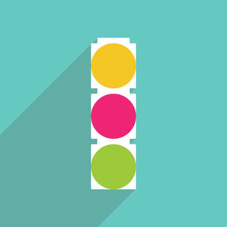 modern illustration: Flat vector icon with shadow and modern design Traffic Lights Illustration
