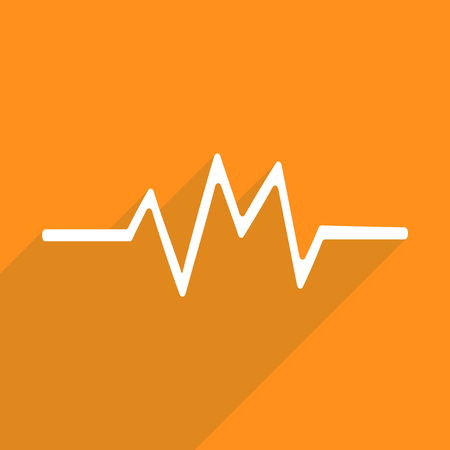 medicine background: Flat vector icon with shadow and modern design cardiogram graphic medicine