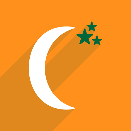 Flat vector icon with shadow and modern design midnight Illustration