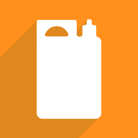 canister: Flat vector icon with shadow and modern design fuel canister