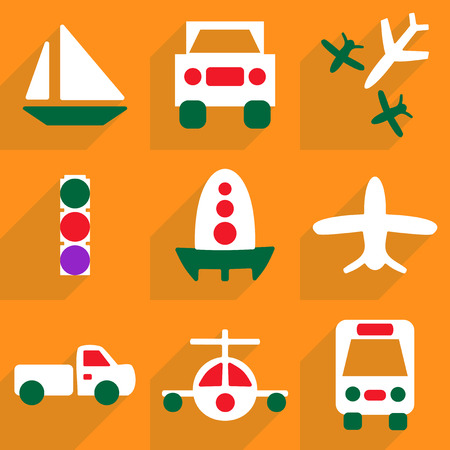 trafficlight: Flat vector icon with shadow and modern design icon set transport Illustration
