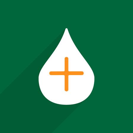 einlauf: Flache Vektor-Symbol mit Schatten und modernes Design Gesundheit Klistier Werkzeug Illustration