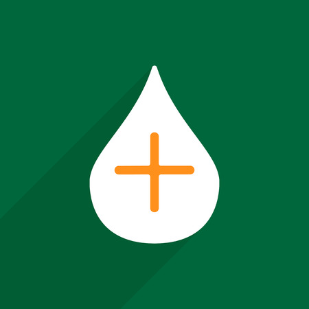 enema: Flat vector icon with shadow and modern design health enema tool