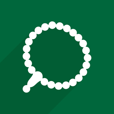 beads: Flat vector icon with shadow and modern design  prayer beads