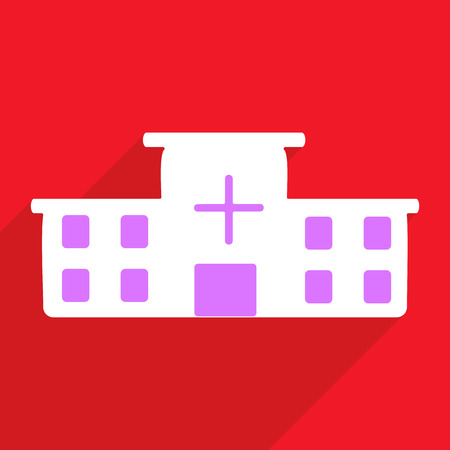 usability: Flat vector icon with shadow and modern design hospital Illustration