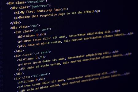 HTML and CSS code developing screenshot.