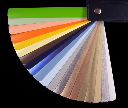 sampler:           Venetian blinds color chart