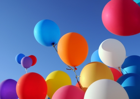 multicolored balloons in the city festival Stock Photo - 15408667