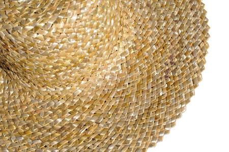 chapeau de paille: chapeau de paille ukrainian traditionnel isolé sur blanc Banque d'images