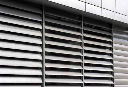 metallic   window shutter at the  office building, innovation technique Standard-Bild