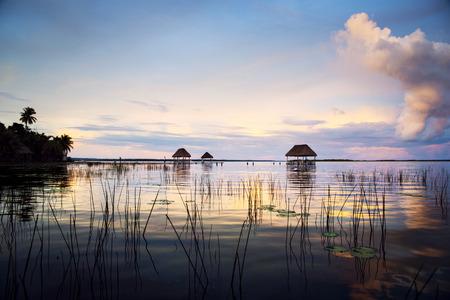 Beautiful sunset on the lagoon