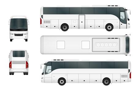 viagem: Molde do ônibus do vetor isolado no fundo branco. Separar por grupos e camadas.