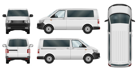 86632c4010a2  67677614 - Minivan vector template on white background. Isolated city  minibus. All elements in groups on separate layers. The ability to easily  change the ...