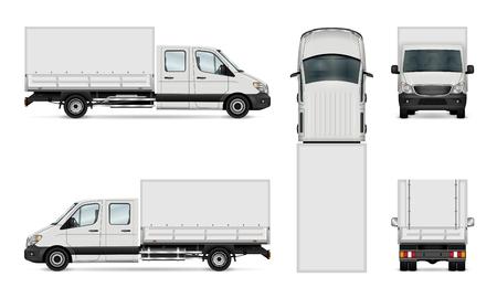 Cargo van vector illustration. Isolated commercial vehicle on white. 免版税图像 - 76604070