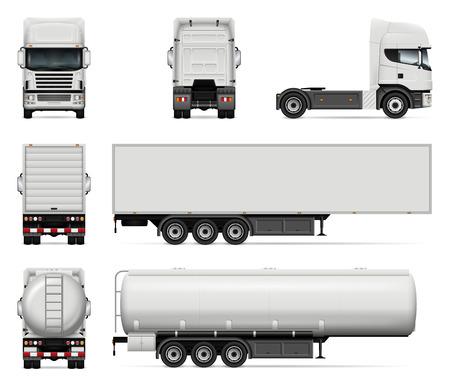 Truck vector mock-up illustration design