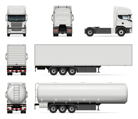 Truck vector mock-up illustration design