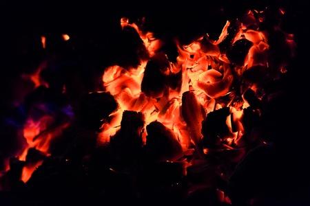 Burning Nature, rest. Burning hot coals in the grill.hot coals in the grill.