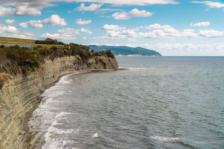 Views of the Black sea from the steep shores of Gelendzhik. Stock fotó