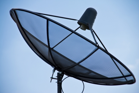 Satellite dish in blue sky Stock Photo - 15007213