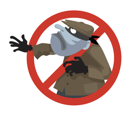 anti theft sign vector illustration cartoon pictures