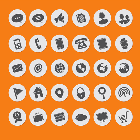 set of vector icons of multimedia