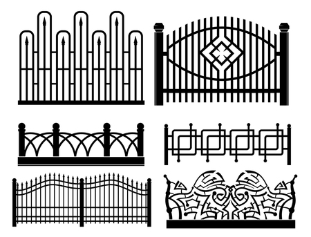 design of iron railings and fences Illustration