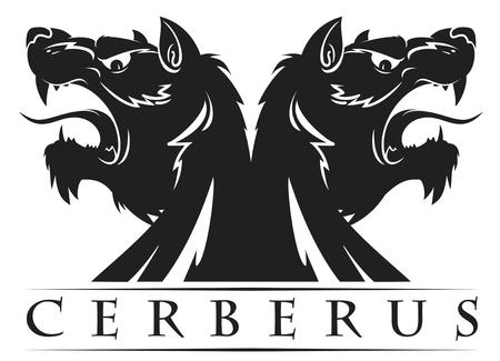 the design of the sign Cerberus vector illustration symbol