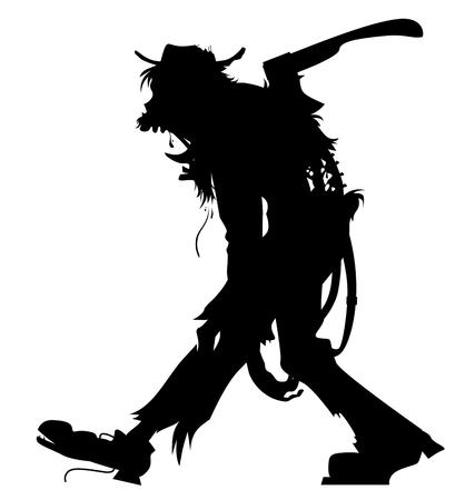 walking zombie silhouette