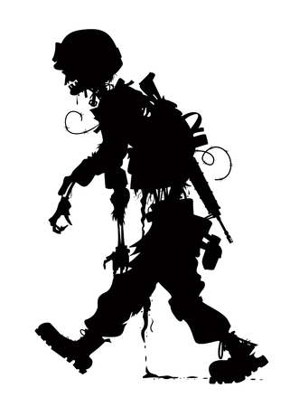 rotting zombie soldier